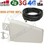 Мультистандартная универсальная направленная Антенна 2G GSM / 3G / 4G LTE LPDA, 8-9 дБ (800-2700 МГц)
