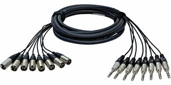 """RME ALVA T8X8Pro2 аналоговый мультикор 8 х TRS Jack 6,3мм < > 8 х XLR """"папа"""", 2 метра"""