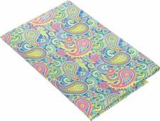 "Ткань для пэчворка Артмикс ""Пейсли"", цвет: розовый, синий, зеленый, 48 х 50 см"