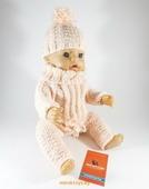 Одежда для куклы Baby Born - Тёплый розовый Krispy Handmade розовая