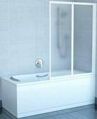 Шторка на ванну Ravak VS2 105 полистирол satin+Rain