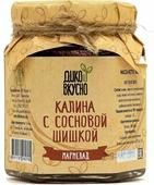Дико Вкусно Ягодный мармелад калина с молодой сосновой шишкой содержание ягоды 60%, 200 г