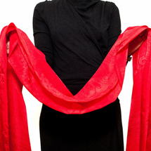 Хадак шелковый красный, 56 х 290 см