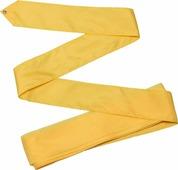 Лента гимнастическая Indigo, без палочки, цвет: желтый, 6 м
