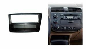 Переходная рамка для установки магнитолы Incar RHO-N20 - Переходная рамка HONDA Civic (2001-2005) clima 1din