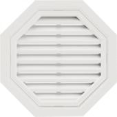 Т-сайдинг Восьмиугольная фронтонная вентиляционная решётка Белая
