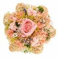 Букет из сухих и стабилизированных цветов Раффия розовый
