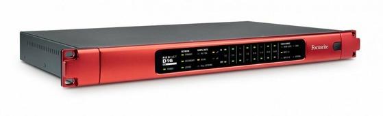 FOCUSRITE RedNet D16R AES 16-канальный AES3 конвертер для систем звукозаписи Dante c резервированием сигнала и питания
