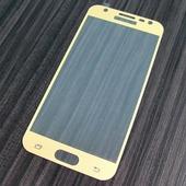 для Samsung Galaxy J3 2017 (Европейская версия) Защитное стекло Ainy Full Screen Cover 2,5D 0,33 мм золотое