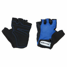 Велоперчатки JAFFSON SCG 46-0398 (чёрный/синий)