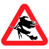 Наклейка на авто Знак Ведьма 20 х 17 см