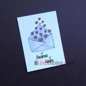 All Write Открытка почтовая Люблю тебя (письмо), A6