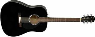 FENDER CD-60S Black WN акустическая гитара цвет черный