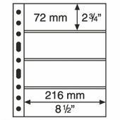Лист Leuchtturm (Германия) формата GRANDE 4C на 4 боны (216х72) B060501