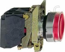 Кнопка красная с подсветкой без фиксации 24В AC/DC 1НО+1НЗ (в сборе) Schneider Electric, XB4BW34B5