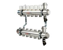 VALTEC Коллекторный блок из нержавеющей стали, в сборе, на 11 выходов (арт. VTc.594.EMNX.0611) для теплого пола