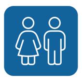 """Таблички """"Neona Blue"""" это серия табличек для обозначения туалетов."""