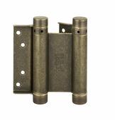 Петля дверная пружинная амортизирующая + тормоз Aldeghi 101OA125B 125x42x48 ант. бронза