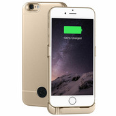 Чехол Аккумулятор INTERSTEP для iPhone 6, 6S, Gold, 3000 мАч