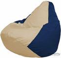 Кресло-мешок Flagman Груша Мега Г3.1-133 светло-бежевый/темно-синий