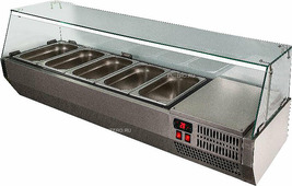 Витрина холодильная POLAIR VT2v-G (3x GN 1/3 + GN 1/2)