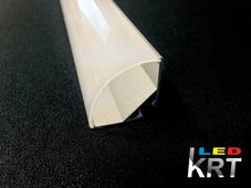 Профиль алюминиевый для светодиодной ленты угловой сферический 30*30мм
