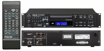 Tascam CD-200SB CD/SD/USB проигрыватель Wav, MP3, MP2, WMA, AAC , RCA/ XLR/SPDIF, CD-Text, Anti-shock, CD pitch 14%, 2U, пульт ДУ