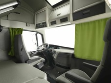 Комплект автоштор Эскар Blackout - auto LK, зеленый, 2 шторы 240 х 100 см, 2 подхвата, гибкий карниз 5 м