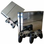 Пленка для обклейки PS4 и геймпада (серебряная)