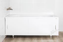 Лицевой экран под ванну Ваннбок лайт 180 см (рама, панель, ручки с винтами (2 шт.), регулируемые ножки (4 шт.), цвет белый). Высота 53-57 см.
