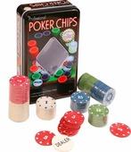Сувенирный набор Magic Home Фишки для покера, с номиналом, 79868, 19 х 11,5 х 5 см