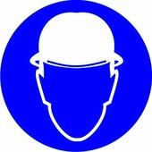 Наклейка Работать в защитной каске 10 х 10 см