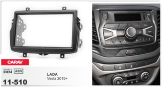 Переходная рамка для установки магнитолы CARAV 11-510 - LADA Vesta 2015+