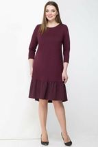 Платье Линия-Л 1697 бордо