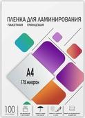 Пленка для ламинирования Гелеос LPA4-175, 216 х 303, 175 мкм, 100 шт