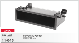 Переходная рамка для установки магнитолы CARAV 11-045 - 1-DIN Карман универсальный