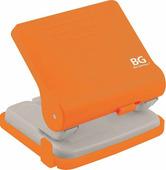 """Дырокол """"Active"""" BG до 30 листов, пластиковый, с линейкой, с фиксатором (оранжевый)"""