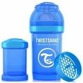 Twistshake Neon Бутылочка антиколиковая Синяя печенька, 180 мл