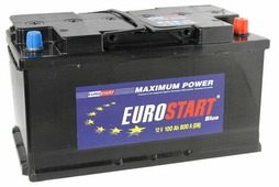 Автомобильный аккумулятор Eurostart Blue (100 A/h), 800А R+