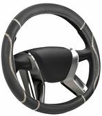 """Оплетка на руль Senator """"Washington"""", цвет: черный, диаметр 40 см"""