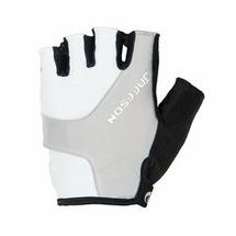 Велоперчатки JAFFSON SCG 46-0385 (чёрный/белый/серый)