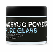 Акриловая пудра прозрачная ACRYLIC POWDER PURE GLASS 20 г