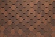 Гибкая битумная черепица Tegola Nordland Нордик коричневый с отливом