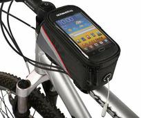 Велосипедная сумка Roswheel на раму размер M (8.5х8.5х18.5 см, чёрный/красный)