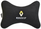 """Подушка на подголовник Auto Premium """"Renault"""", цвет: черный. 37430"""