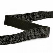 Лента эластичная металлизированная 20мм, цвет черный