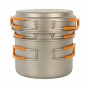 Набор посуды титановой 0.8 л. и 1,2 л. NZ TS-014