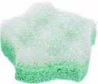 Мочалка Банные штучки, цвет: зеленый, с массажным слоем, 11 х 11 х 3,5 см