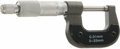 """Микрометр механический """"Matrix"""", цвет: серый металлик, 0-25 мм"""