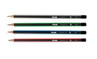 Мартек Набор карандашей чернографитных трёхгран. Milan 4шт (Н,НВ,В,2В)